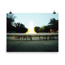 Satan Lives Color Photo Paper Poster - ThePinCartel