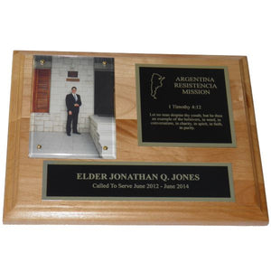 Alder Missionary Plaque - Gold Trim