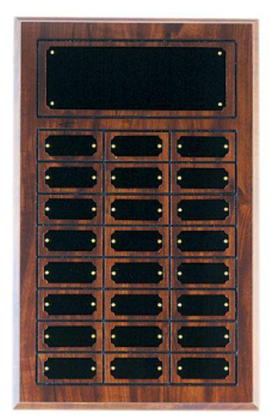 Cherry Finish 24 Plate Perpetual Plaque