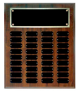 Cherry Finish 36 Plate Perpetual Plaque