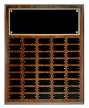 Cherry Finish 45 Plate Perpetual Plaque