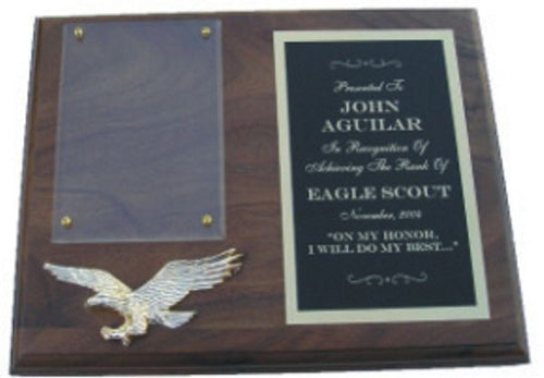 Eagle Scout Plaque - Solid Walnut
