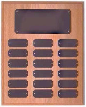 Oak Finish 18 Plate Perpetual Plaque