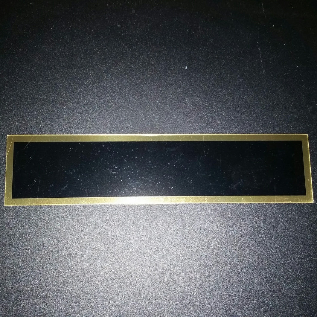 Replacement Plate Rectangle/Gold