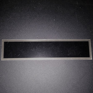 Replacement Plate Rectangle/Silver