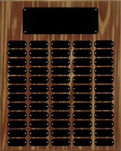 Walnut Finish 60 Plate Perpetual Plaque