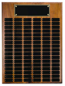 Walnut Finish 102 Plate Perpetual Plaque