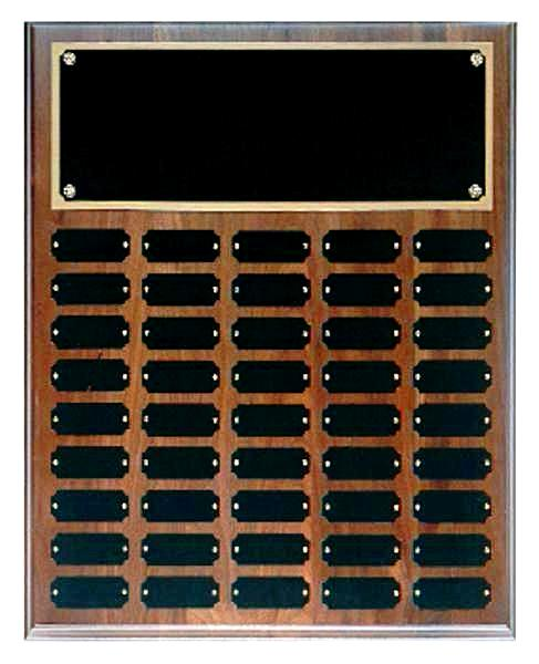 Step Edge Genuine Walnut 45 Plate Perpetual Plaque