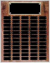 Step Edge Genuine Walnut 60 Plate Perpetual Plaque