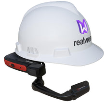 Load image into Gallery viewer, HMT-1Z1 mounted on MSA front brim hard hat