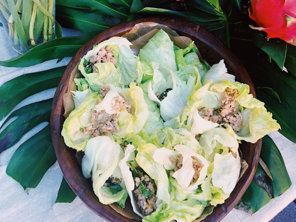 Spicy Pork Lettuce Parcels