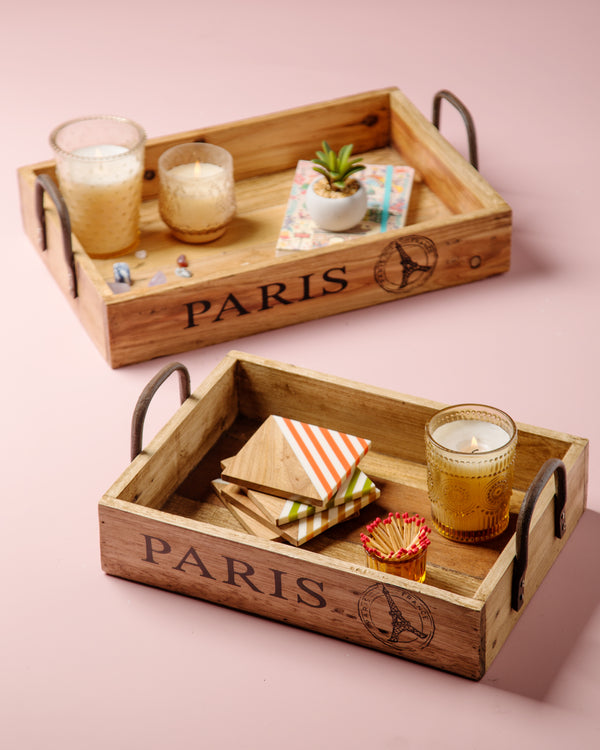 Madulkelle Paris Trays - Set of 2 | Indochine Maison