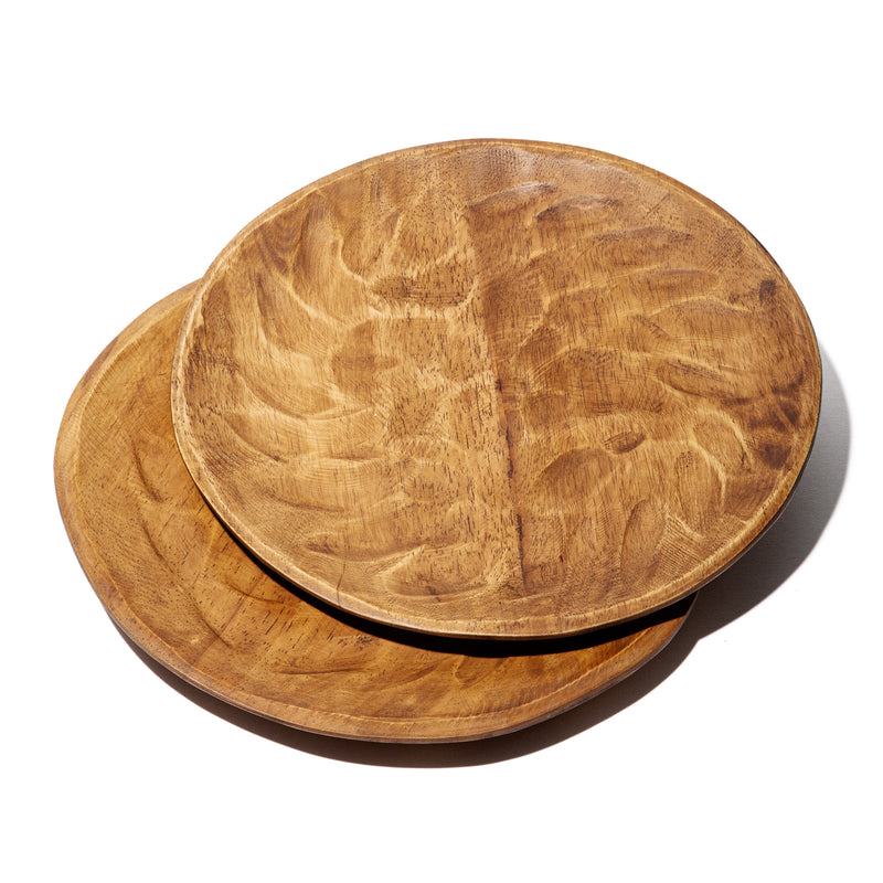 "Set of 4 14"" Hudson Wood Plates"