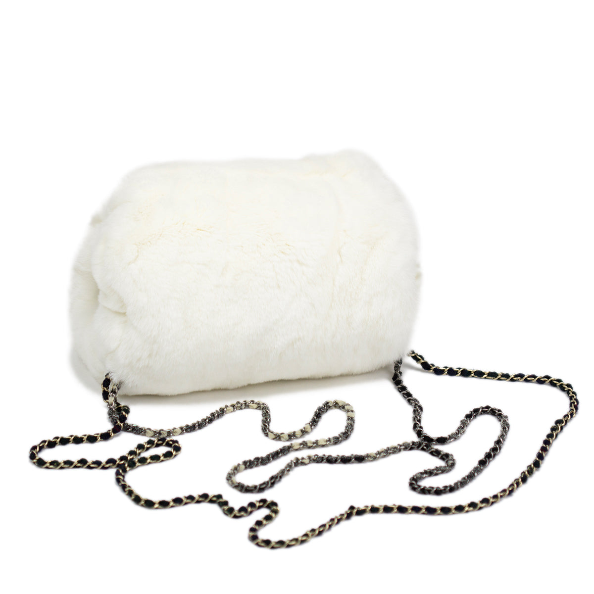 White Fur Chained Muff