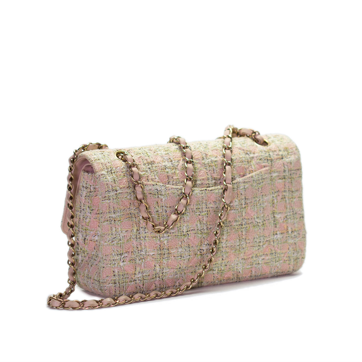 Pink and Green Tweed Flap