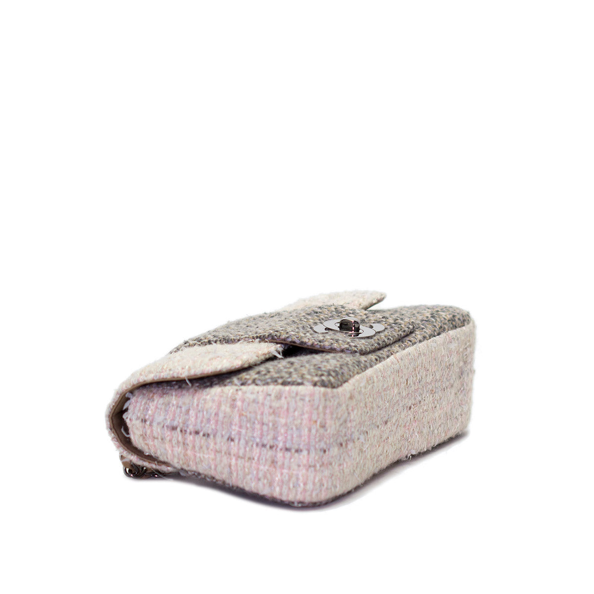 Small Tweed Cream Flap