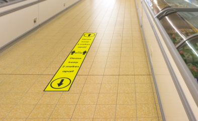 Floor Sticker: 2 Metres Line Marker