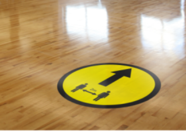 Floor Sticker: Arrow Yellow