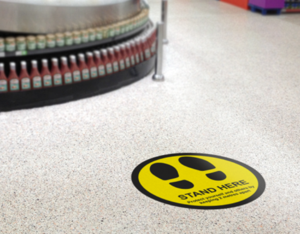 Floor Sticker: Feet Yellow