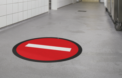 Floor Sticker: No Entry