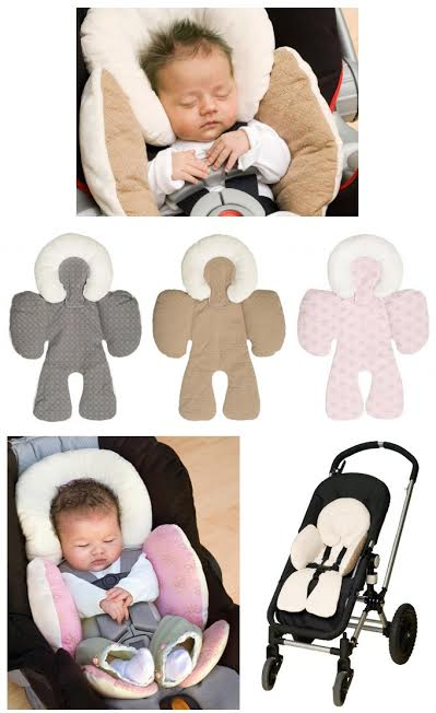 Reversible Head And Body Car Seat Support Cushion