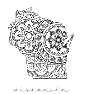 Color Me Wisconsin Print