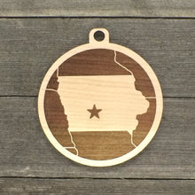 Iowa Map Medallion