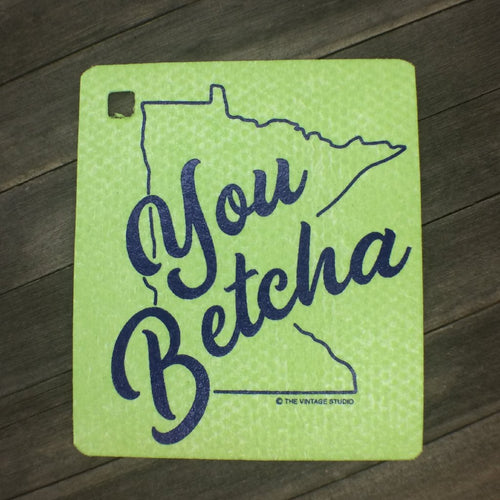 Minnesota You Betcha Swedish Dishcloth