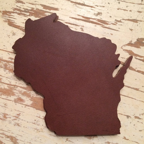 Wisconsin Leather Coaster Set of 4