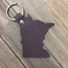 Minnesota Leather Keychain