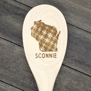 Wisconsin SCONNIE Wood Spoon