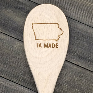 Iowa IA MADE Wood Spoon