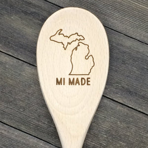 Michigan MI MADE Wood Spoon