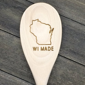 Wisconsin WI MADE Wood Spoon