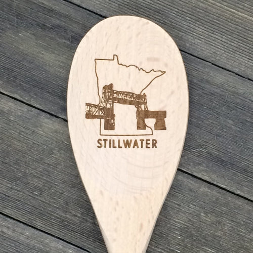 Minnesota Stillwater Lift Bridge Wood Spoon