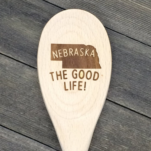 Nebraska THE GOOD LIFE Wood Spoon