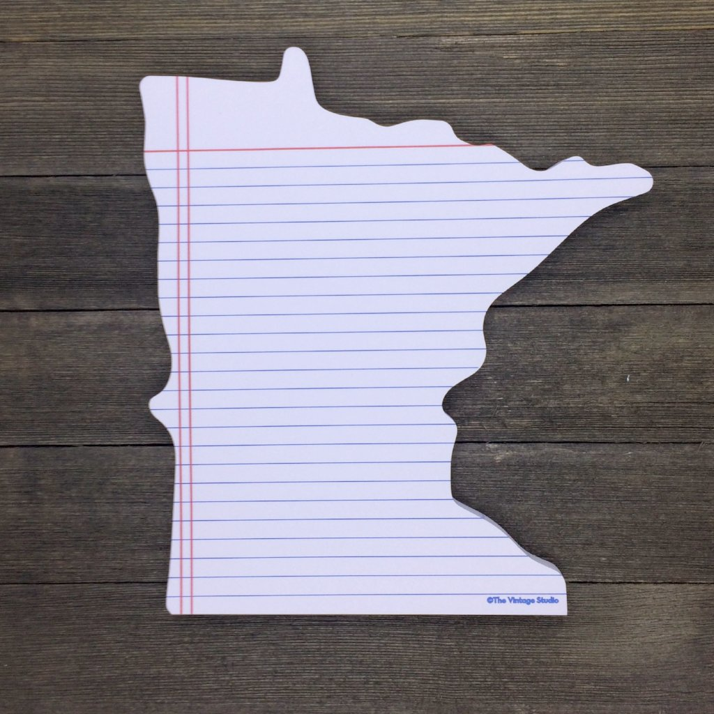 Minnesota Shaped Notepad - 70 Lined Sheets