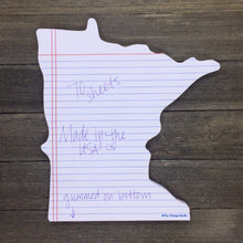 Minnesota Shaped Notepad and Pencil Gift Set