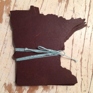 Minnesota Leather Coasters Set of 4