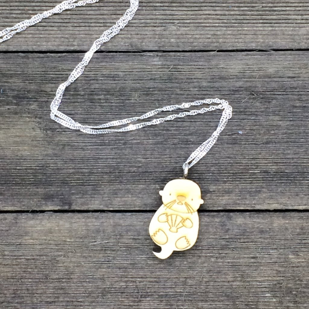 Otter Sterling Silver Necklace