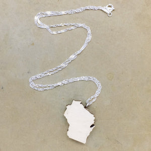 Wisconsin Sterling Silver Necklace