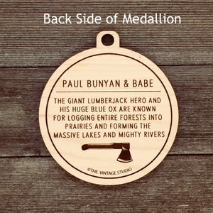 Paul Bunyan and Babe the Blue Ox Medallion