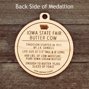 Iowa State Fair Butter Cow Medallion