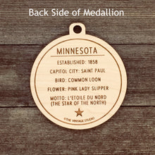 Minnesota Map Medallion