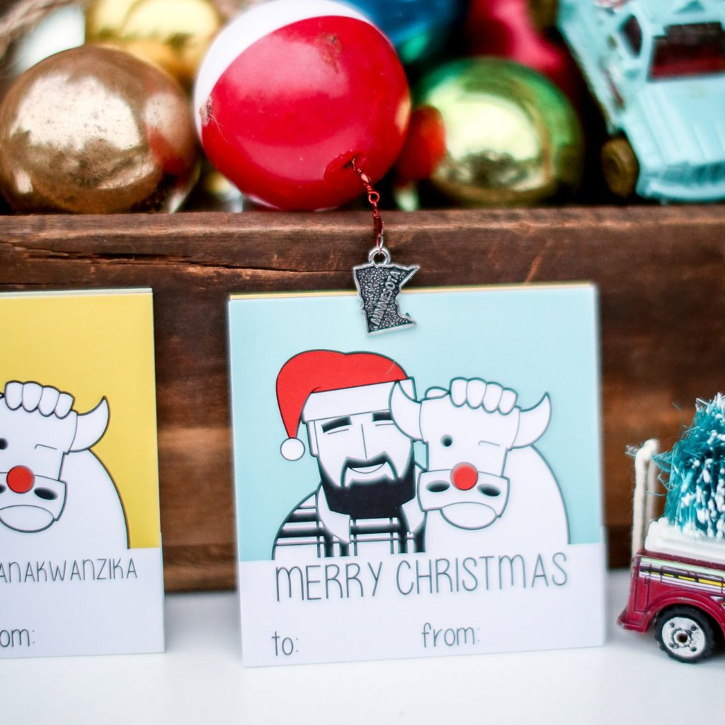 Paul and Babe Gift Tags - Set of 12
