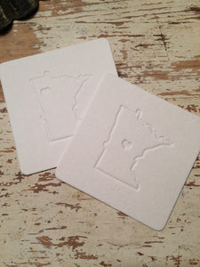 State Letterpress Coasters (Set of 6)