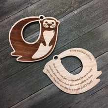 River Otter Wood Ornament