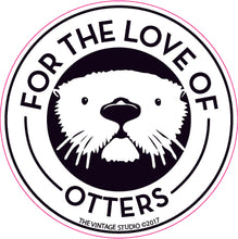 For the Love of Otters Decal