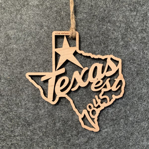 Texas Filigree State Ornament