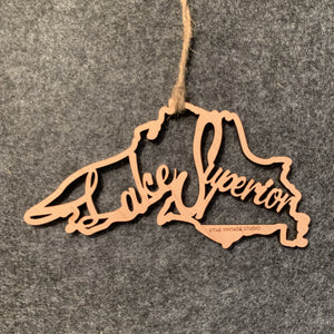 Lake Superior Filigree Ornament